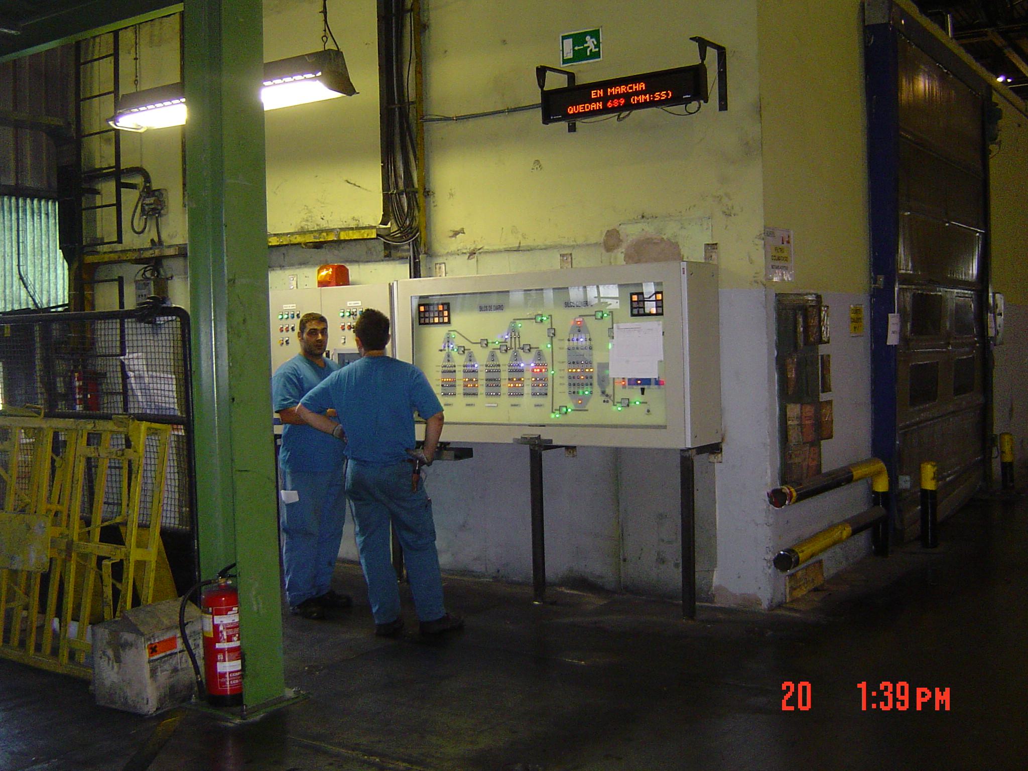 Automatización Silos planta Bridgestone, Burgos (España, 2007)